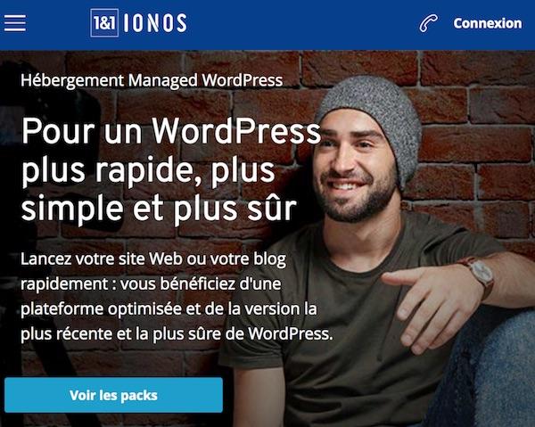 comparatif hebergeur IONOS pour WordPress