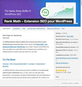 Rank Math plugin SEO pour Blog